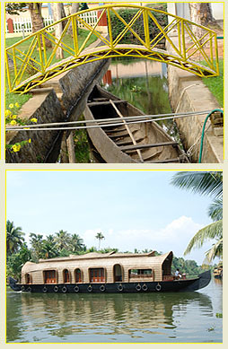 Kerala Houseboats in Kumarakom Backwaters
