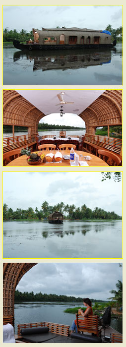 Kerala Houseboat: In backwaters with tourists